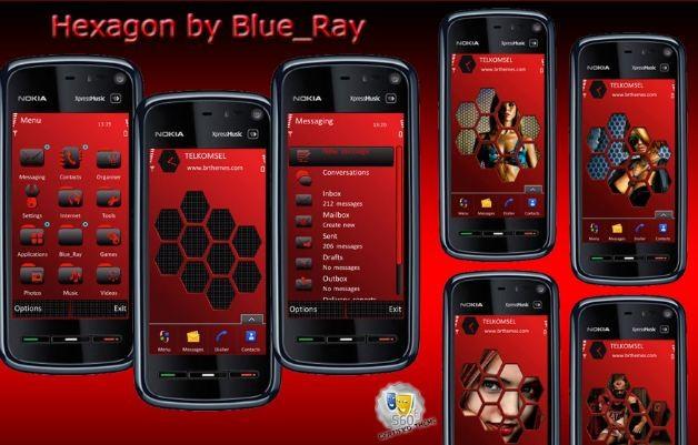 Symbian Themes, Hexagon by BlueRay - HDblog it