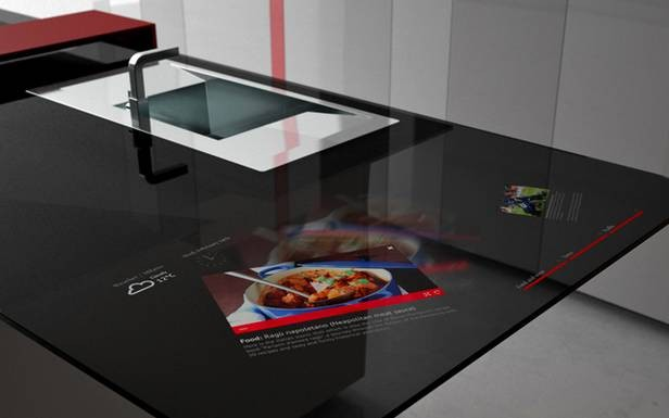 Toncelli presenta Prisma smart kitchen, cucina high tech con Galaxy ...