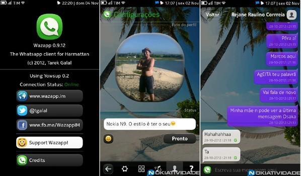 Wazapp, il client ufficioso di Whatsapp per Nokia N9