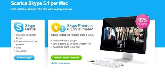 scaricare skype gratis per mac