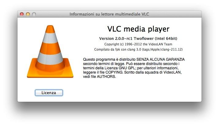 Rilasciata la prima release candidate di VLC 2 0 per Mac