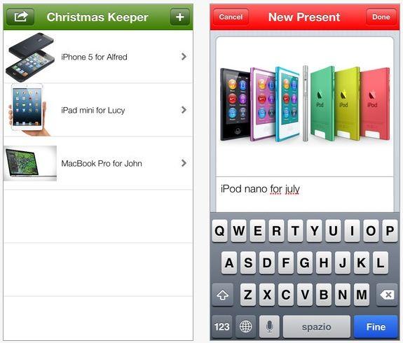 Immagini Di Natale Per Iphone 5.Christmaskeeper L App Per La Lista Dei Vostri Regali Di Natale Su