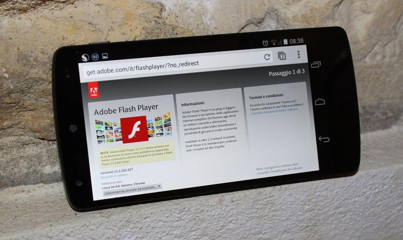 Flash Player Modificato per funzionare anche con Android 4 4 e
