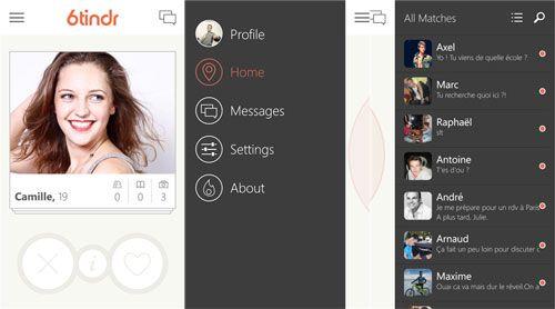 Applicazione di incontri per Windows Phone