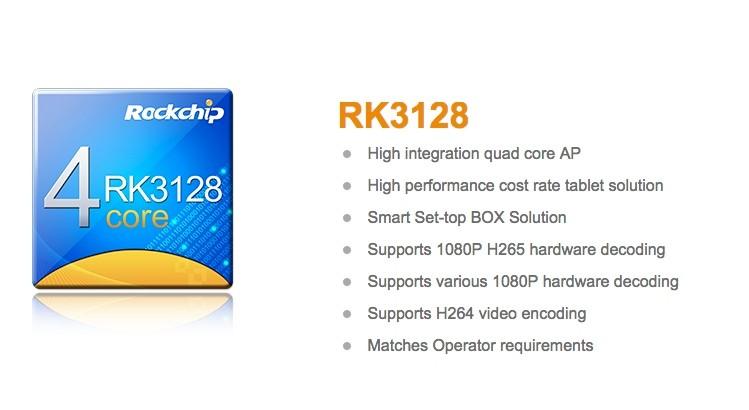 Rockchip RK3126 e RK3128: Quad Core A7 con supporto H 265
