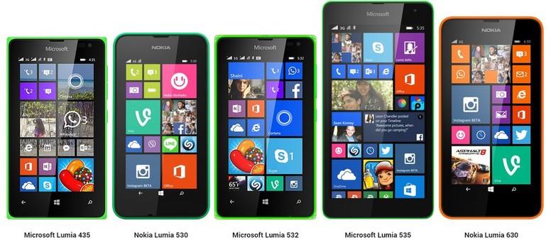 Lumia 435 530 532 535 E 630 Schede Tecniche A Confronto Hdblogit