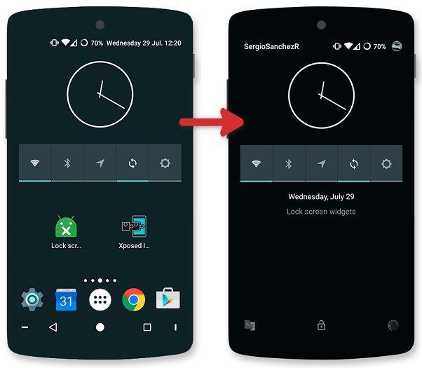 Cambiare sfondo schermata blocco android