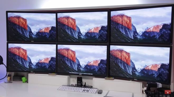 Il Mac Pro è in grado di pilotare sei monitor 4K a 60 Hz
