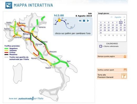 Calendario Traffico Autostrade.Traffico Autostrade Estate 2015 Le Previsioni E I Bollini