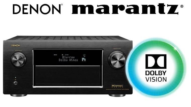 Marantz e Denon portano Dolby Vision e HLG sugli