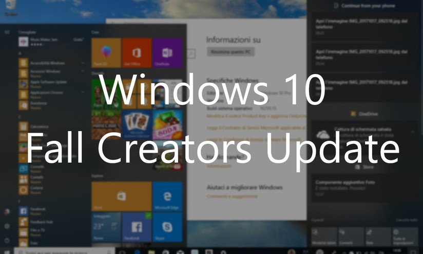 Windows 10 1709 Fall Creators Update disponibile: tutte le