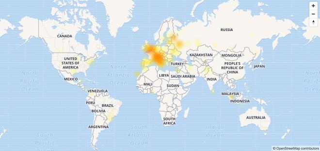 Telegram down in Europa