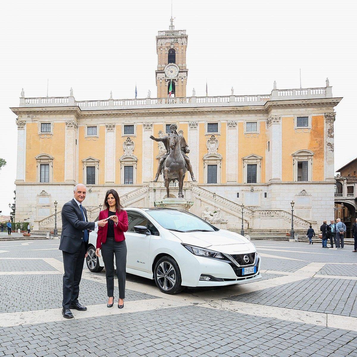 Da oggi l'elettrica è al servizio di Roma Capitale — Nissan LEAF