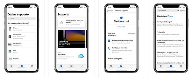 L'app Supporto Apple si aggiorna, miglioramenti ed estensione dei Paesi - image  on http://www.zxbyte.com