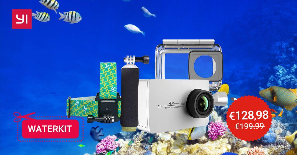 Miglior Camera Subacquea : Yi action cam k con kit subacqueo in offerta a euro miglior