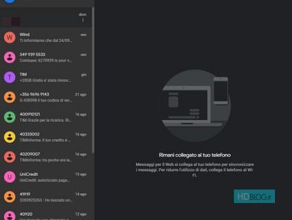 Android Messaggi Il Material Theme E La Modalità Scura Anche Su Web
