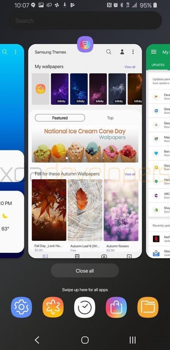 3ec6e337a2f6 Galaxy S9 S9+  ecco il tema scuro della Samsung Experience ...