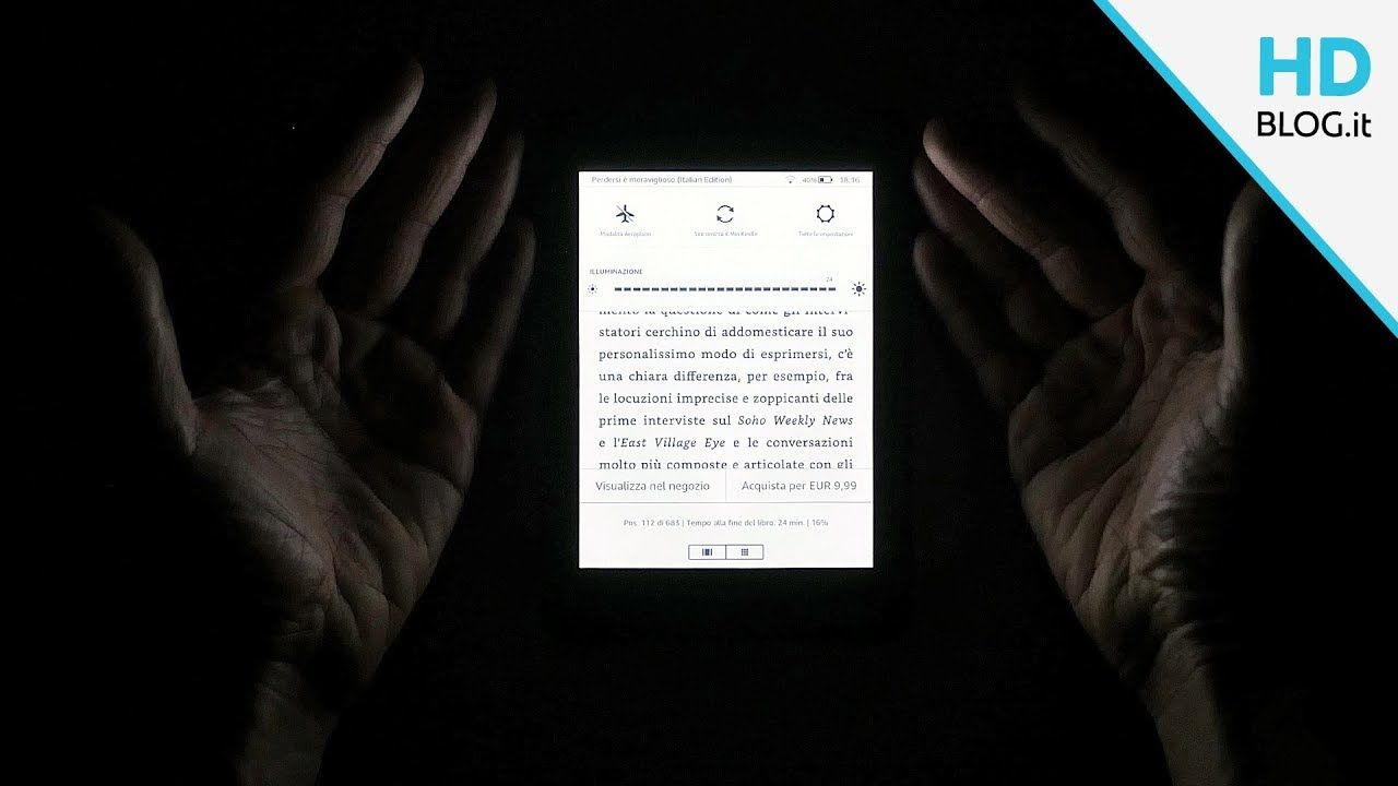 Recensione kindle paperwhite hd