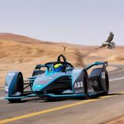 Formula E: la monoposto elettrica di Felipe Massa sfida un falco pellegrino   Video