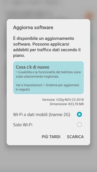 LG G6 e G5 (Vodafone) ricevono le patch di sicurezza di novembre