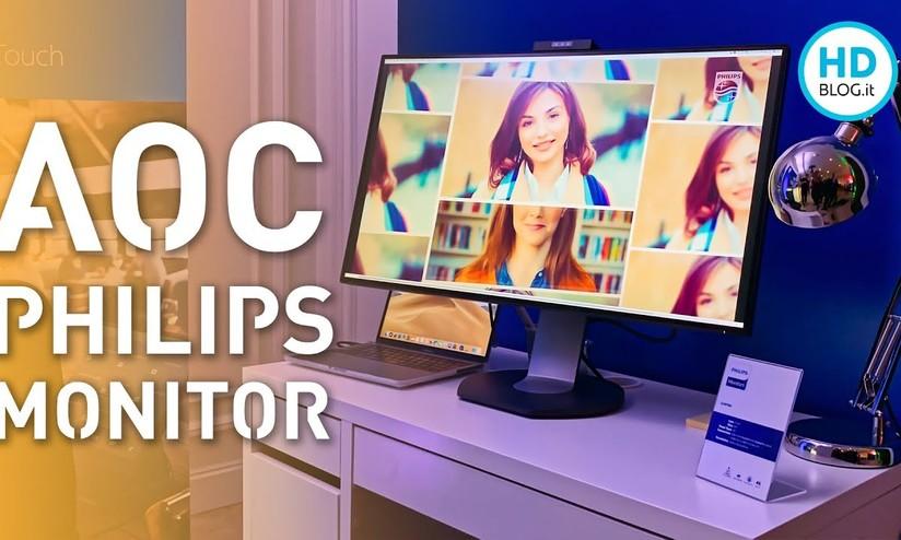 Scrivania Con Monitor A Scomparsa.Philips E Aoc Nuovi Monitor Con Webcam A Scomparsa Anteprima