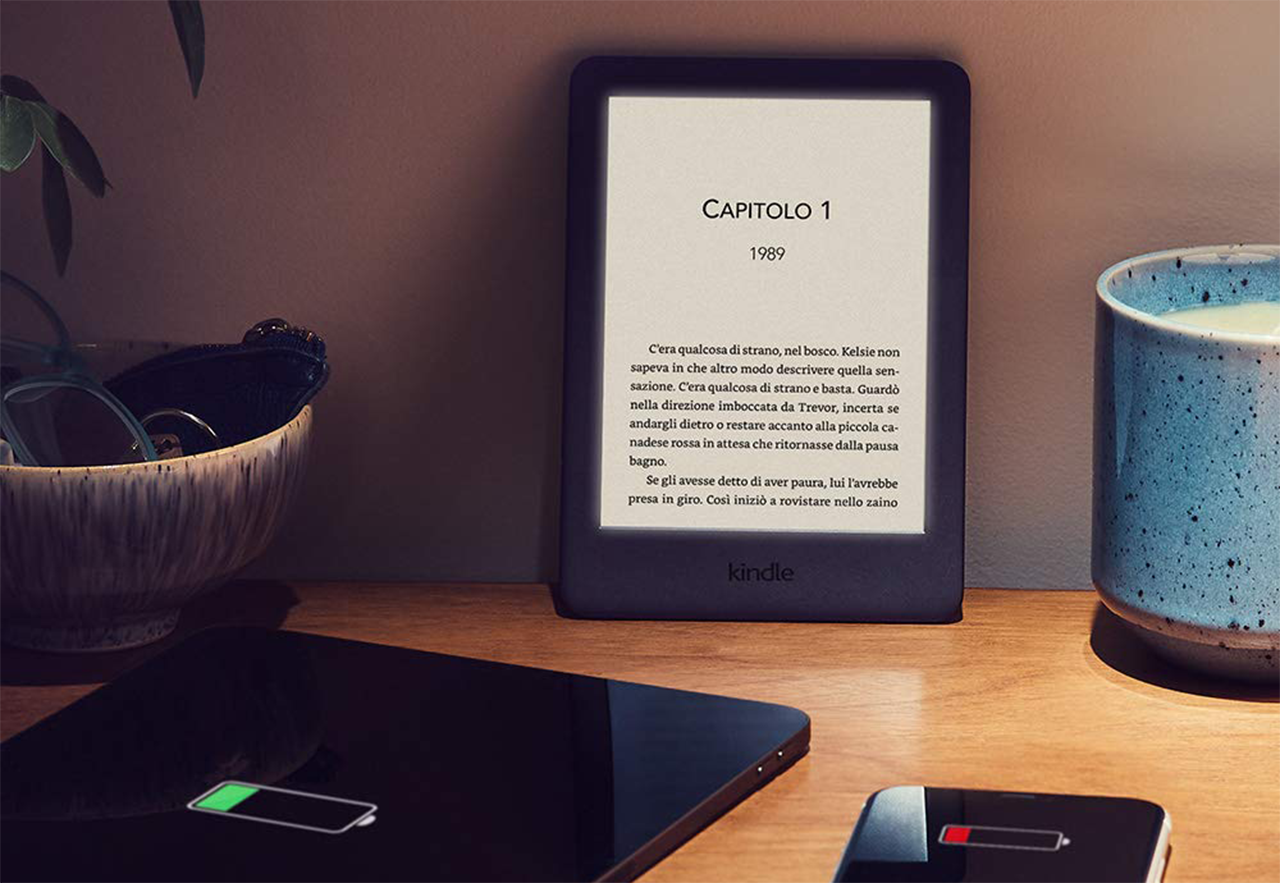 Amazon kindle è tutto nuovo ora con luce integrata a euro