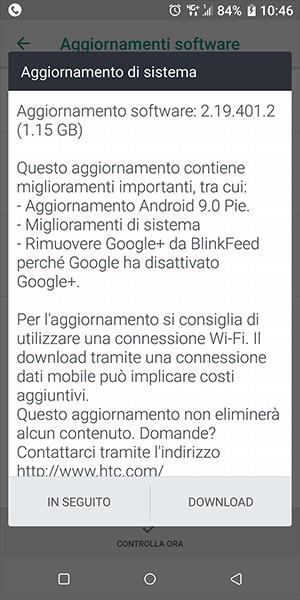 HTC U11 e U11+ ricevono Android 9 0 Pie anche in Italia - HDblog it